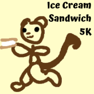 Ice Cream Sandwich 5k and 1 mile race at Heritage Landing $20