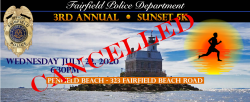 THE FAIRFIELD POLICE SUNSET 5K, presented by Moneco Advisors, one mile walk, and Kids & Cops Scamper