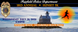 THE FAIRFIELD POLICE SUNSET 5K, Presented by MONECO Advisors