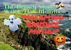 OPEN START 9:00 - 11:00 AM-The Blarney Stone & Screaming Banshee Mashup 5k/10k/Half Marathon & Kids Race - Oct. 25 2020