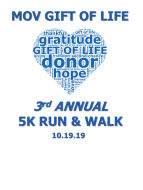 MOV Gift of Life 3rd Annual 5K Run & Walk