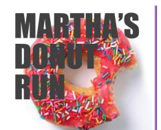 Martha's Dounut Run