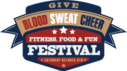 Blood Sweat Cheer 5K Trail Run   /1 Mile Family Walk/    Kids 50 Yard Dash