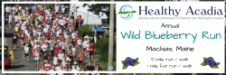 Wild Blueberry 5-Mile Run and 1-Mile Fun Run