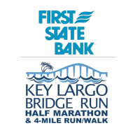First State Bank Key Largo Bridge Run Half Marathon & 4-Mile Run/Walk Logo