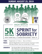 Eastern Dutchess Road Runners Club - High Watch Recovery Center's Sprint for Sobriety 5K Run/Walk