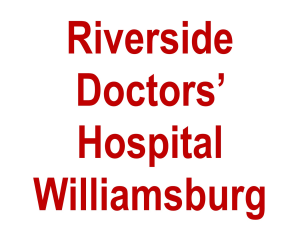 Riverside Doctors' Hospital Williamsburg