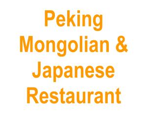 Peking Mongolian & Japanese Restaurant