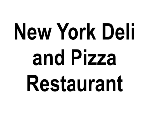 New York Deli and Pizza Restaurant