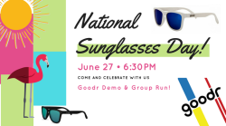 1d47712808 National Sunglasses Day Demo   Group Run Walk with Goodr