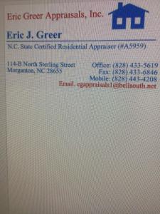 Eric Greer Appraisals