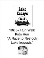 2019 Lake Escape 10k 5k Run Walk and kids run