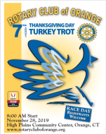 Rotary Club of Orange Thanksgiving Day 5k Turkey Trot & Walk for health