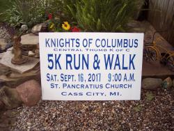 K of C 5K Cass River Run & Walk For Local Food Pantries