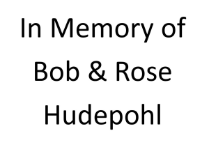 In Memory of Bob & Rose Hudepohl