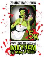Downtown Wytheville Mayhem on Main Street Zombie Bash