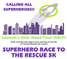 Superhero Race to the Rescue 5K- Disable the Label Event