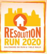 15th Annual Resolution Run 2020 Baltimore 5K Run and 1 Mile Walk