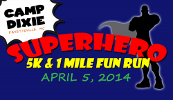 Camp Dixie Superhero 5K & 1 Mile Kids Fun Run
