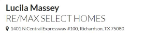 Lucila Massey RE/MAX Select Homes