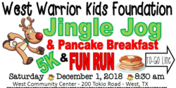 West Warrior Kids Foundation Jingle Jog & Pancake Breakfast