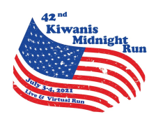 Kiwanis Midnight Run LIVE and Virtual 2021 Logo
