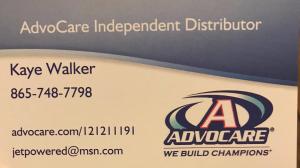 Kaye Walker, Advocare