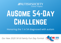 Autism Society Central Virginia AuSome 54-Day Challenge