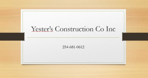 Yester's Construction Co Inc.