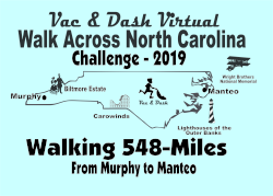 Vac & Dash Virtual Walk Across North Carolina - 2019