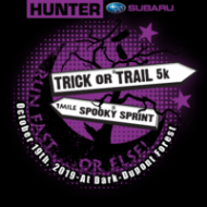 Trick or Trail 5k & 1-Mile Spooky Sprint The Trick or Trail 5 Mile is a Running race in Hendersonville, North Carolina consisting of a 1 Mile Kids Run/Fun Run, 5 Mile Trail Run.
