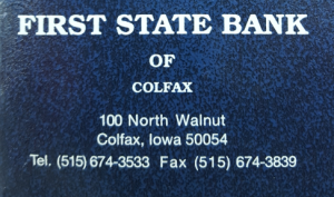 First State Bank of Colfax