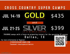 Metroplex Striders Cross Country Camp