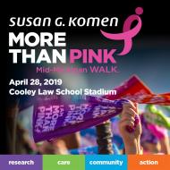 2019 Susan G. Komen Mid-Michigan MORE THAN PINK Walk
