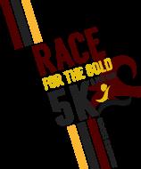 Race for the Gold 5K & 1 Mile Fun Run/Walk Logo