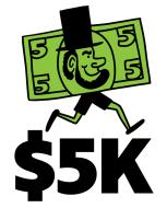 5 Dollar 5K - April