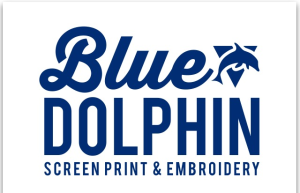 Blue Dolphin Screen Print & Embroidery
