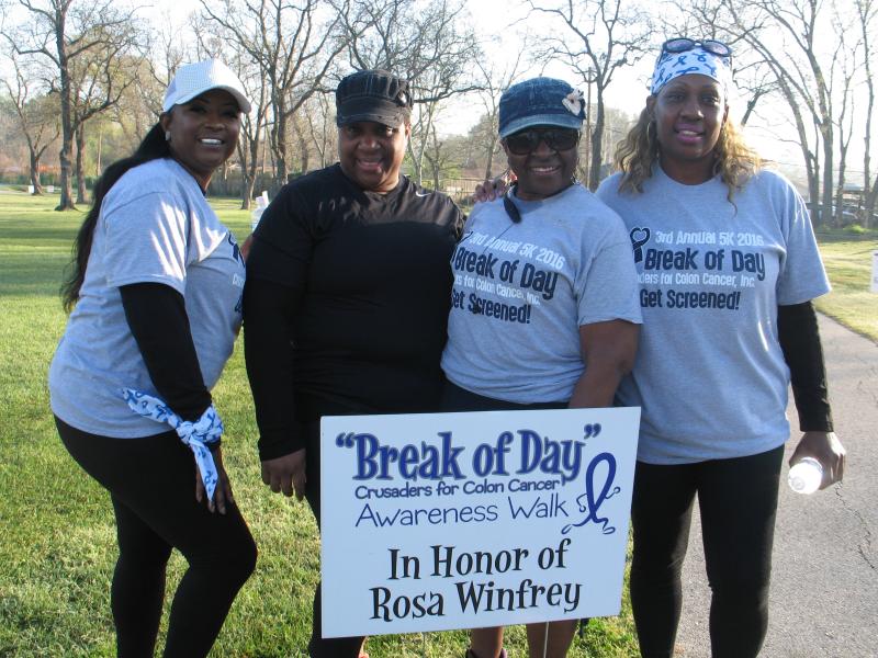7th Annual Break Of Day Colon Cancer Awareness 5k Walk