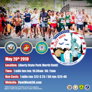 Fleet Week 5K & Youth City Challenge Race at Liberty State Park