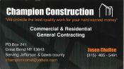 Champion Construction