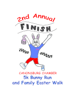 Greater Canonsburg Chamber 5K Bunny Run & Family Easter Walk