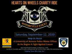 2020 Hearts On Wheels Charity Motorcycle Ride For UAPD Motor Officer