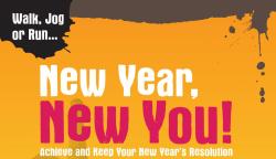 New Year's Resolution Run 5K and 1 Mile Family Fun Walk.