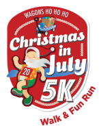 Christmas in July VIRTUAL 5k Walk Fun Run benefits Wagons Ho Ho Ho