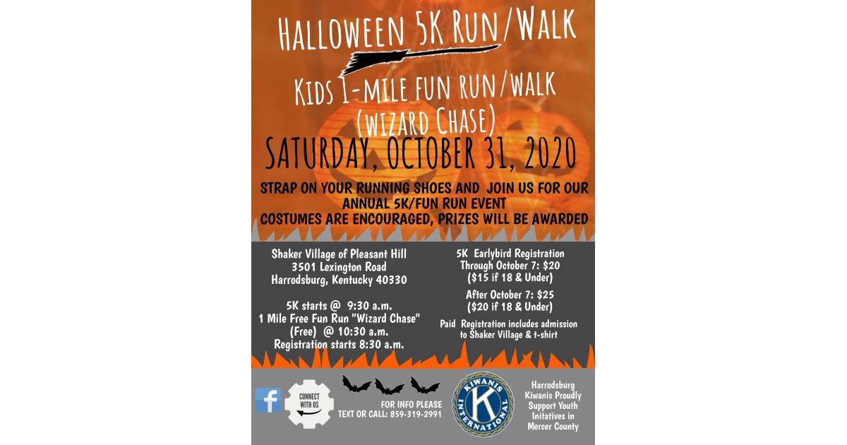 Harrodsburg Ky Halloween 2020 Kiwanis Halloween 5K Run Walk