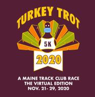 Maine Track Club Turkey Trot 5K Logo