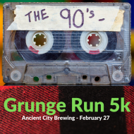 The Grunge Run - 1990's 5k and 1 mile fun run - Ancient City Brewing