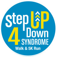 Step Up 4 Down Syndrome Walk & 5k Run Logo