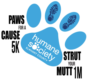 Humane Society of Elkhart County Paws for a Cause 5K and 1M