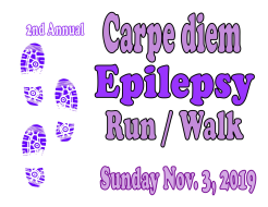 Carpe Diem Epilepsy Race